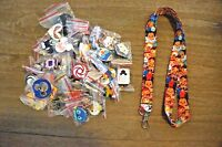 Disney World 25 Pin Trading Lot Lanyard Starter Set Tsum Tsum Minnie Stitch Buzz