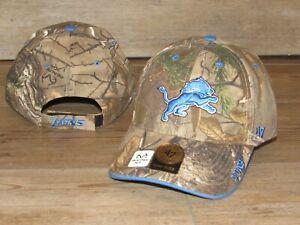 Detroit Lions '47 Brand Realtree Xtra Camo Adjustable Hat Cap size Men's