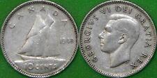 1948 Canada Silver Dime Graded as Fine