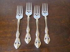 New ListingOneida Golden Michelangelo Set of 4 Salad Forks 18/10 Stainless Flatware Lot C
