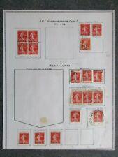 FRANCE timbre SEMEUSE 10c oblitéré variété en bon état lot DC31