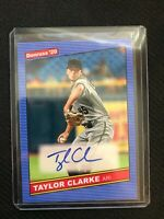 Taylor Clarke 2020 Donruss 1986 Retro Signatures Auto 86S-TC Diamondbacks