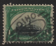 1901, US, 1c, Steamer City of Alpena, Sinking Ship Variety, Used, Sc 294, XF/Sup