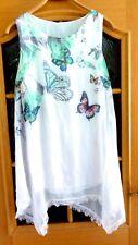 Neu Kleid Gr. 36 Moda Italia Tunika Bluse Longshirt Minikleid 2lagig Sommerkleid