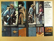 1972 Lee Rider Jeans Jackets Shirts cowboys ranch photos vintage print Ad