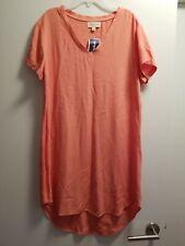 Cloth & Stone NWT Washable Rayon Peach Tunic Dress Sz Sm (Med)