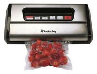 Avalon Bay Food Vacuum Sealer with 5 BPA Free Bags - Black or Silver REFURBISHED