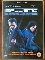 Ballistic - Ecks Vs Sever DVD 2002 Action Film W/Antonio Banderas + Lucy
