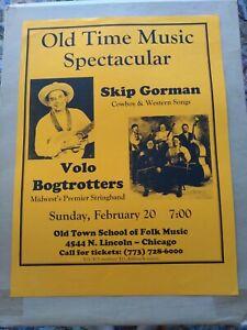 Skip Gorman & Volo Bogtrotters Poster Chicago Old Town School Of Folk