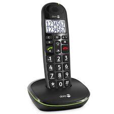 Doro PhoneEasy 110 Schnurlostelefon schwarz, Großtastentelefon, GAP, DECT, HAC