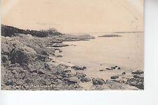 B & W Rocks at Marblehead Neck Marblehead Mass MA   Rotograph D7185