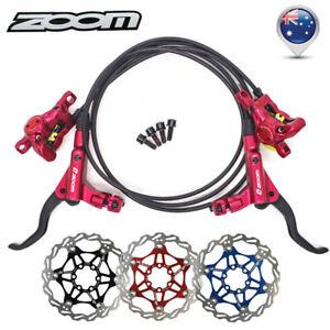 ZOOM Hydraulic Disc Brake Floating 160/180/203mm Bike Rotor Disc Brake 6 Bolts