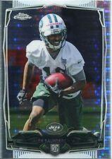 Chrome Football 2014 Pulsar Refractor Card #145 Jalen Saunders - New York Jets