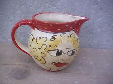 "Saftkrug Milchkrug Milchtopf  0,5l  Keramik pitcher jug ""bitsi"" mit Frau"