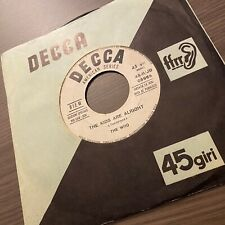 """rare The Who ★ The Kids Are Alright The Ox 7"""" Italian no demo acetate sand ITALY"""