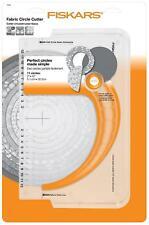 "Fiskars Circle Fabric Cutter Cuts 2"" - 12"" Perfect Circles Fabric Craft Template"