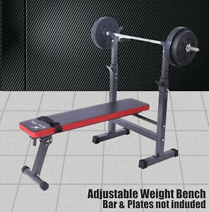 Energetics Foldable Incline Weight Bench Press - Home Gym Fitness Equipment