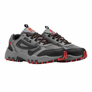 NEW!! Fila Men's Grey/Black/Red Reminder Trail Shoes Variety in Size