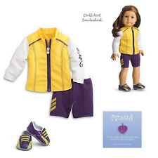 """American Girl MY AG CYCLING OUTFIT for 18"""" Dolls Shoes Bike Bicycle Retired NEW"""
