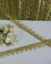 9MM Fancy Metallic Gold Fringe Venise Ribbon Trims Tape Christmas- 5 Yards(T591)