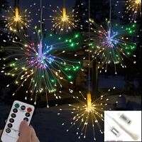 Hanging Firework LED Fairy String Light Xmas Party Garden Decor 8 Modes + Remote
