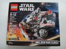 New Sealed LEGO Star Wars Millennium Falcon Microfighter Set 75193 Crushed Box
