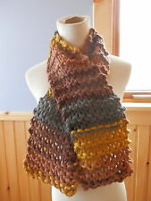 RUSTY ROSE COLLECTION HAND KNIT MULTI COLORS SO SOFT UNISEX SCARF...