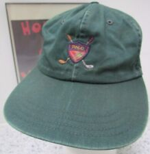 Vtg Polo Spell-out Golf Crest Logo Usa Made 90s Ralph Lauren Strap-Back Hat