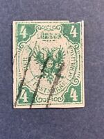 1859 GERMANY, LUBECK, SC#5, 4s. COAT OF ARMS
