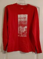 Port and Company Size Medium Women's Long Sleeve T-Shirt Top Blouse