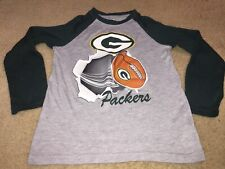 Green Bay Packers Youth Size S Small 6/7 Long  Sleeve T Shirt NFL Team Apparel