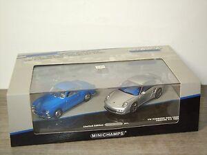 VW Volkswagen Karmann Ghia & Porsche 911 Turbo - Minichamps 1:43 in Box *30803