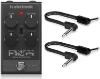 New TC Electronic Fangs Metal Distortion Guitar Effects Pedal w/ Patch cables