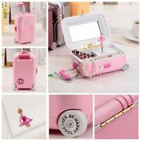 Dancer Ballet Luggage Music Jewelry Box Dancing Ballerina Musical Toy Xmas Gift