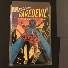 Daredevil #48 KEY Controversial cover marquee behind Stilt-Man reading ''Asspain