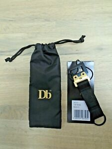 Douchebags 'The Hook' Black & Gold Keychain Keyring BNWT & Dust Bag