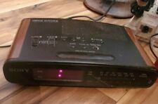 Sony Dream Machine Icf-C420 Dual Alarm Digital Am/Fm Clock Radio Wood Grain