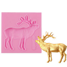 3D Deer Elk Shape Silicone Fondant Mould Cake Decor Chocolate DIY Mold Tools