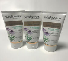 Wildflowers Exfoliating Daily Cleanser 4oz Each for Sensative Skin Lot of 3