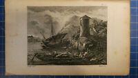Französische Landschaften Stahlstich von 1808 Niquet H-7295