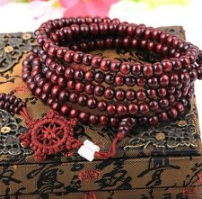 3pcs 8mm Tibetan Buddhist Mala Buddha Sandalwood 108 Prayer bracelet necklace