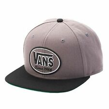 Vans Rookie Embroidered Snapback Hat Cap, Pewter Gray