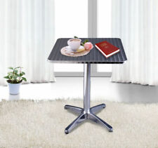Bistro Bar Coffee Square Table Height Adjustable with Aluminum Edges 60 x 60 cm