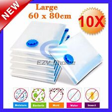 10x Large Vacuum Storage Bags 60cmx80cm for Storing Items Space Saving Experts