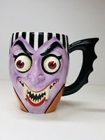 Department 56 Halloween Dracula Mug with Googly Eyes, Rare pre-owned
