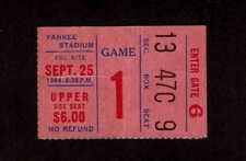 1964  NEW YORK GIANTS vs WASHINGTON REDSKINS  Ticket Stub