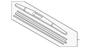 Genuine Acura Blade Windshield Wiper (350MM) 76730-TZ5-A01