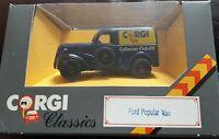 """Corgi D980 Ford Popular Van; Corgi Collectors Club """"89 1:43 scale unopened box"""