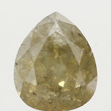 Natural Loose Diamond Pear I1 Clarity Green Color 4.36X4.02X2.60MM 0.39 Ct N5639
