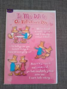 FUNNY POP UP VALENTINE'S DAY CARD FOR WIFE - FOXES WITH CUTE VERSE (LARGE CARD)